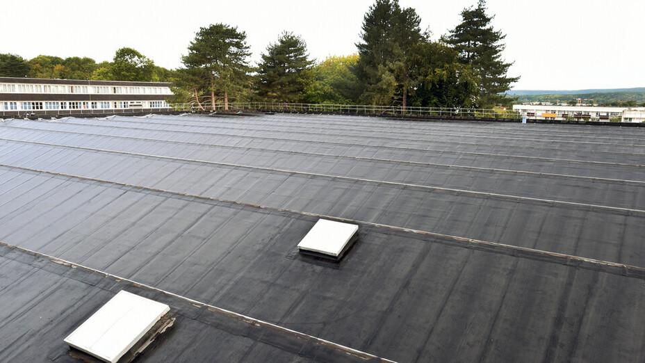 Rockfleece B Energy, Metal Box, FRI, flat roof, étanchéité bitume soudée en plein