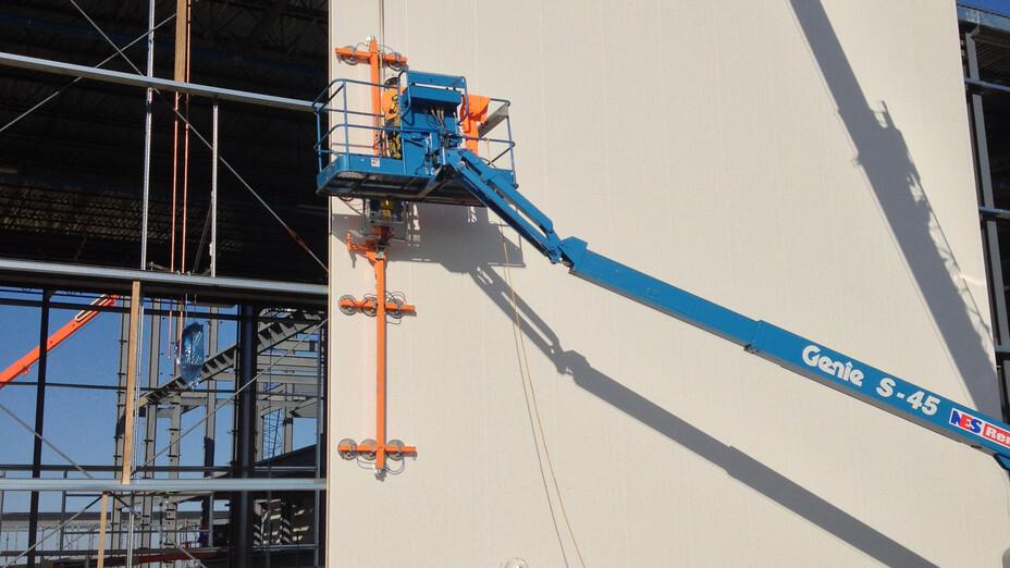 Metlspan case study 4, exterior wall, construction, exterior wall insulation, conrock, building