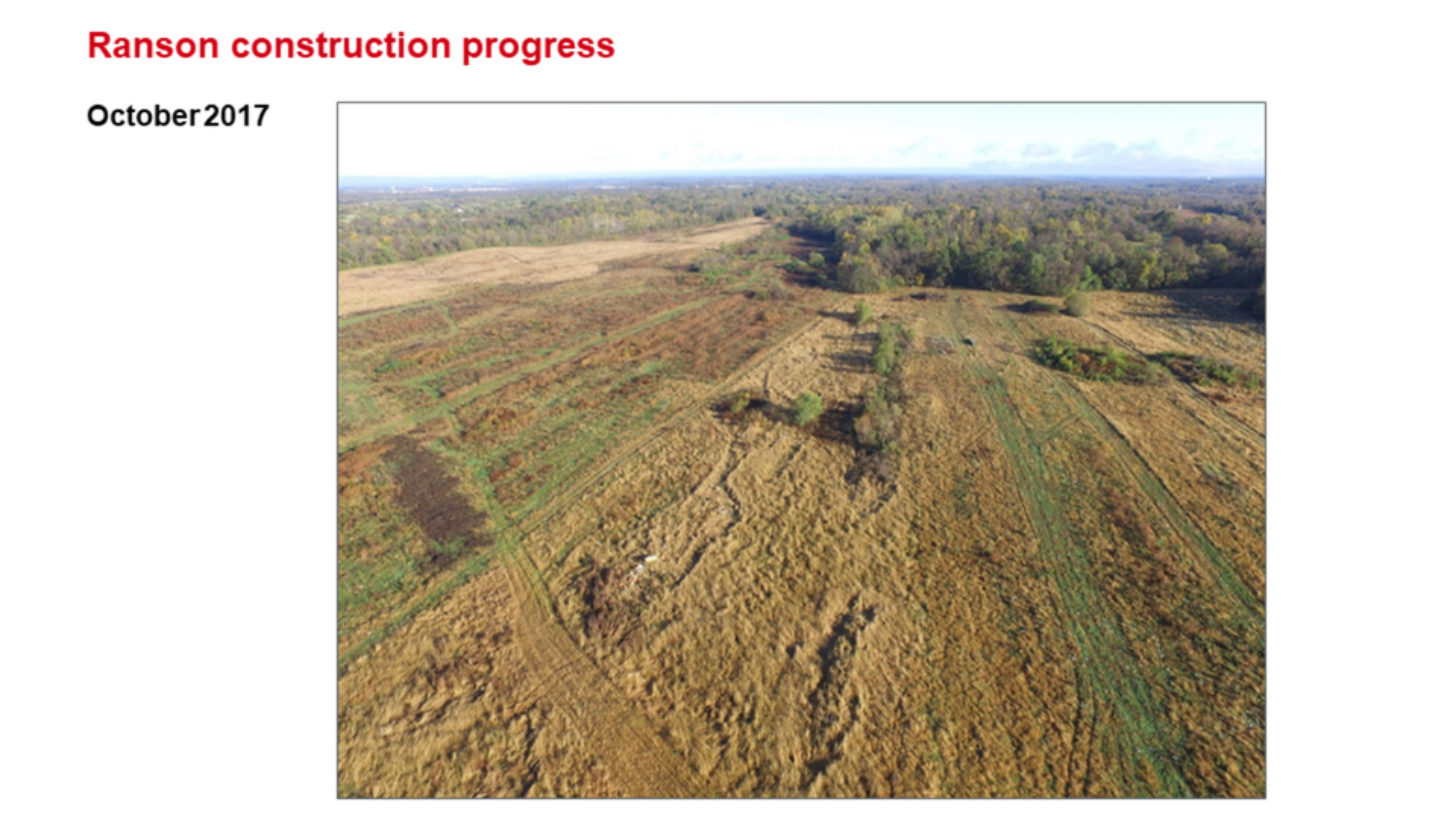 ROCKWOOL Ranson (Jefferson County) WV Construction Progress October 2017.