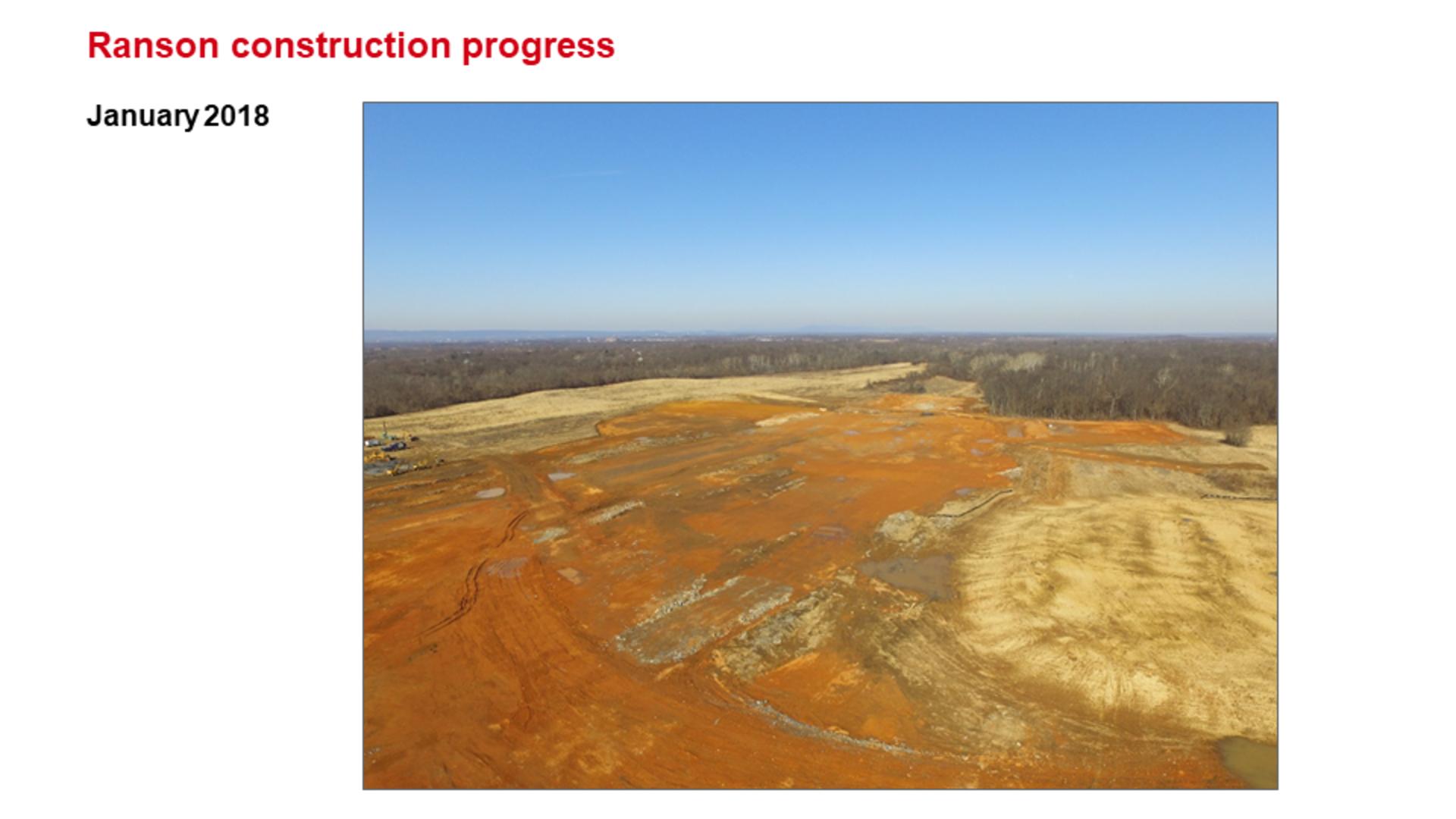 ROCKWOOL Ranson (Jefferson County) WV Construction Progress January 2018.