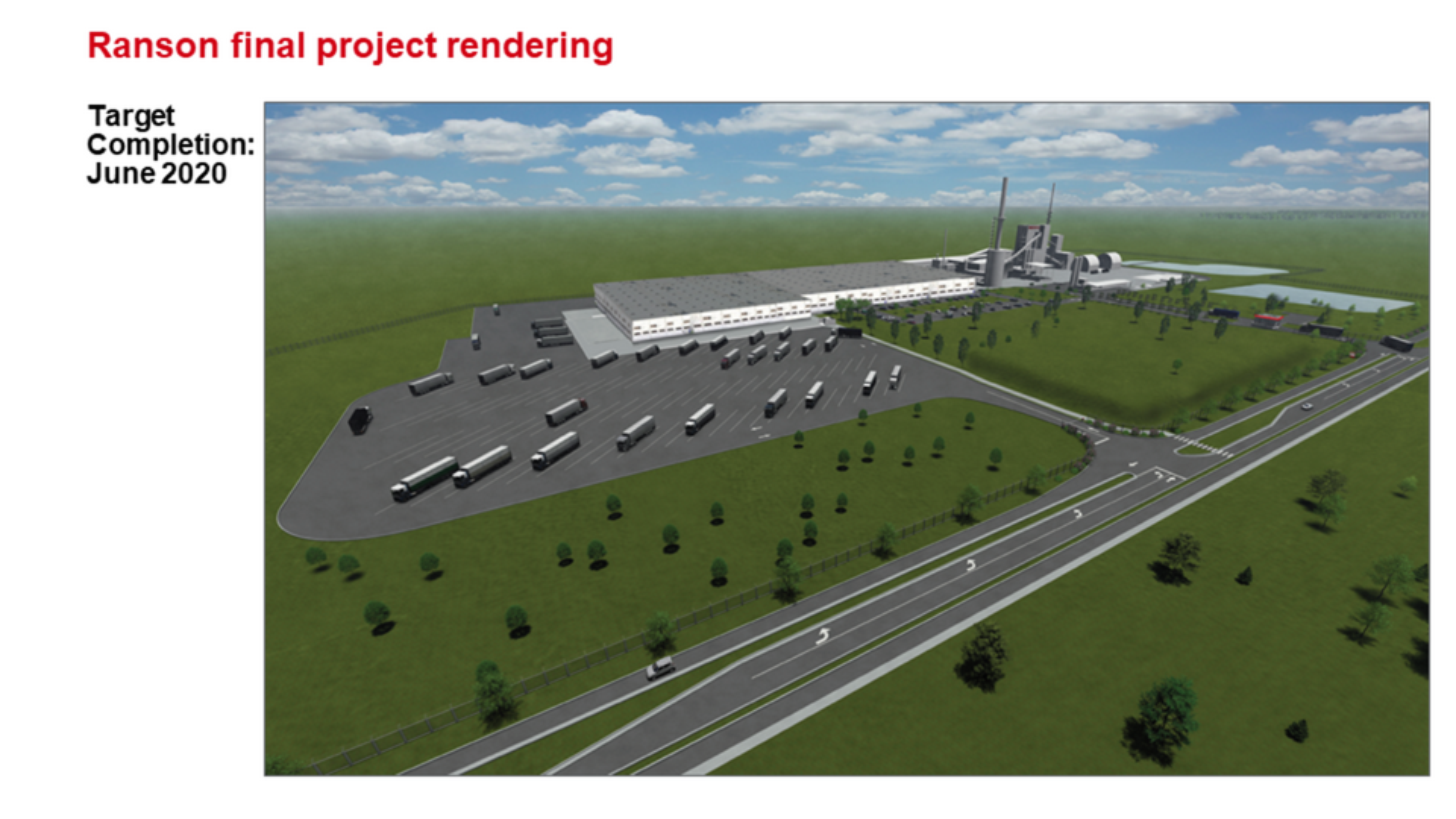 ROCKWOOL Ranson (Jefferson County) WV final project rendering.