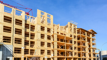 Mid rise wood frame building in Canada
