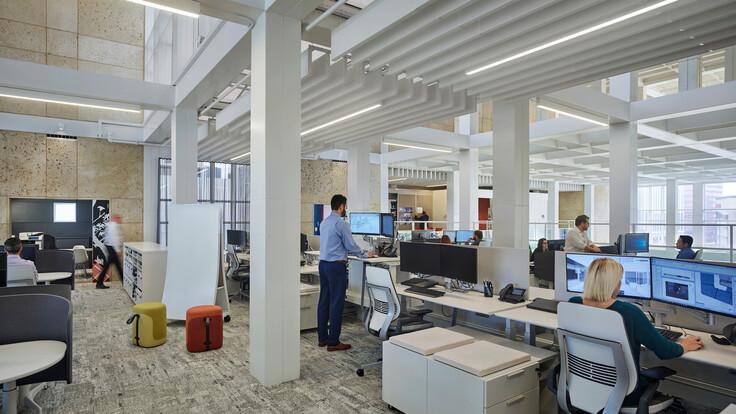 NA, MultiFlex Fibral Baffles 12x48, Open office, Office, Gensler Tampa Office, Gensler
