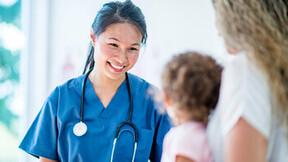 segment illustration, healthcare, doctor, child, mother