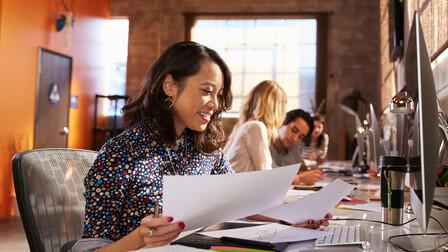 segment illustration, office, open plan office, people
