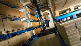Rockfon, Factory, Chicago Metallic Continental, storage, Worker, Lift, warehouse