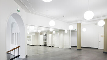 FI, Chydenia, Helsinki, Innovarch Oy, Education, Rockfon Mono Acoustic, Seamless, white, corridor