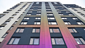 Rockpanel project cladded with Rockpanel Chameleon facade cladding.