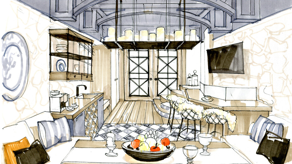 "news article, TV program about apartment renovation ""Dachnyi Otvet"", Scandik, Acoustic Batts, chairs, living room, bedroom, sofa"