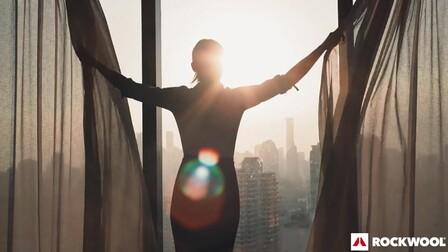 windows, building, woman