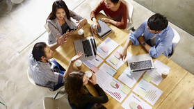 Office, meeting, Asian, Caucasian, diverse, diversity, work, people; shutterstock 670285291