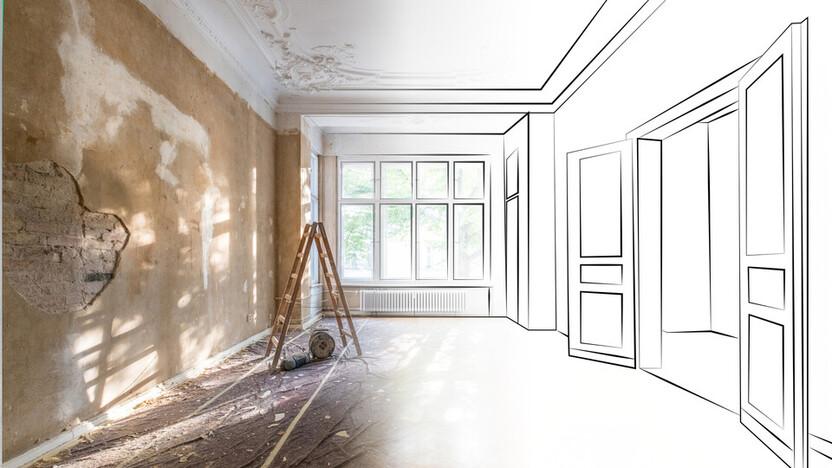 Renovation Sketch to Photo