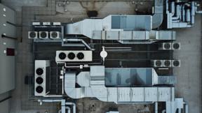 Roof, HVAC system, Building