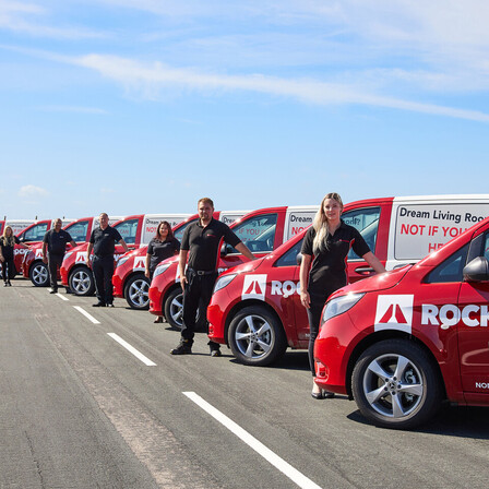 Merchant CSS Team Photoshoot, ROCKWOOL Vans, ROCKWOOL UK, Sales Team, Merchant Support
