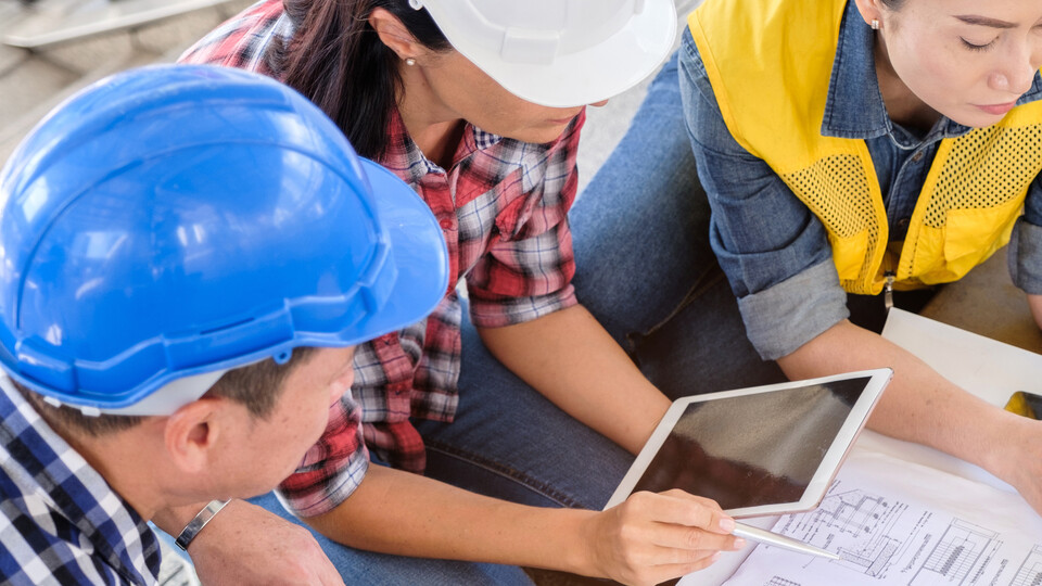 Workers, Construction, Engineer, Planning