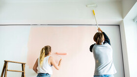 People, Humans, Indoor, Home, Painting, Couple
