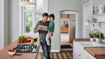 People, Humans, Parent, Child, Indoor, Home, Kitchen