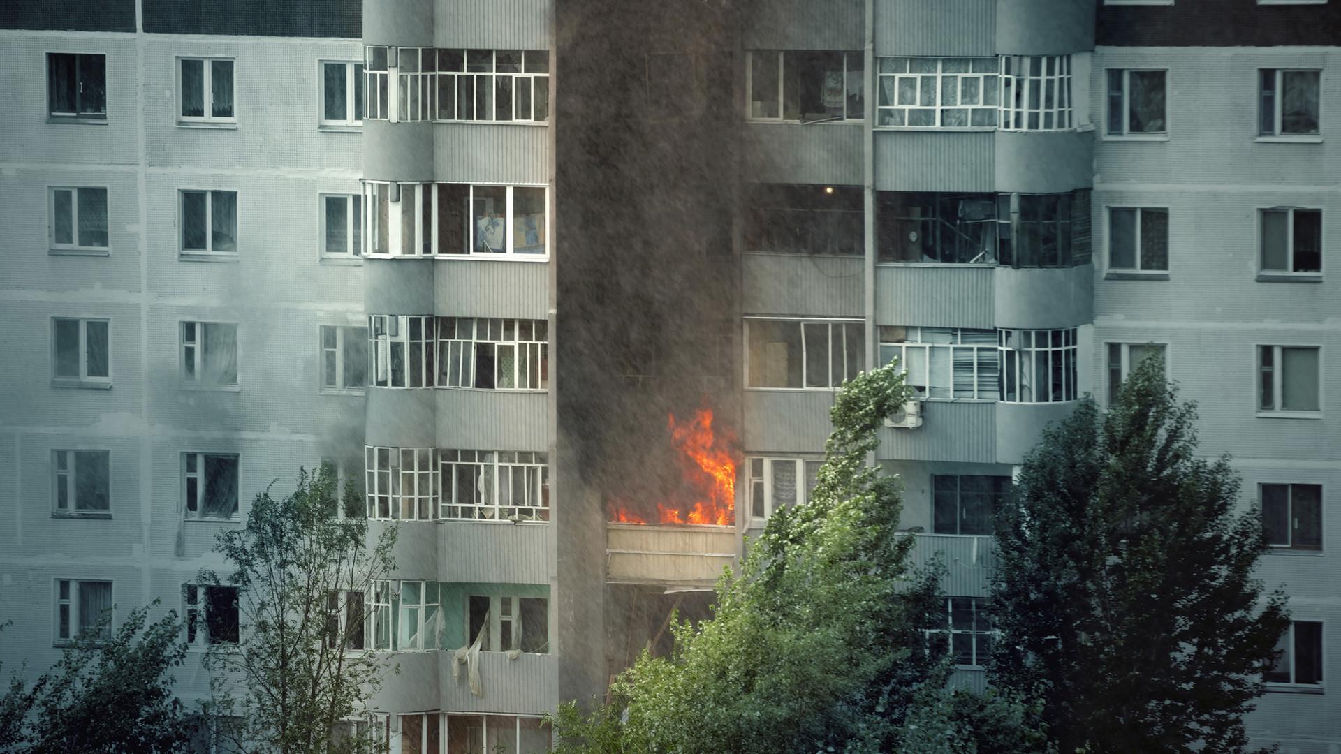 Building, Fire, Residental