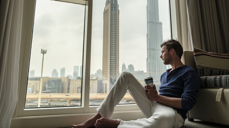 People, Humans, Office, Working, View, Man, Dubai