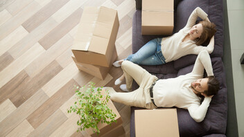 Indoor, Home, Move in, Couple, People