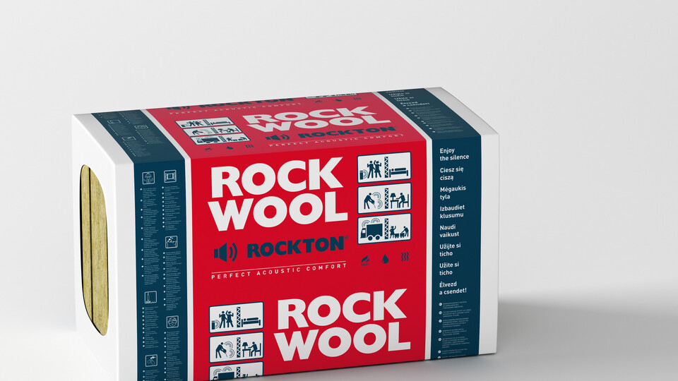 ROCKTON, slabs, partition walls, piched roof insulation, acoustic insulation, internal walls,