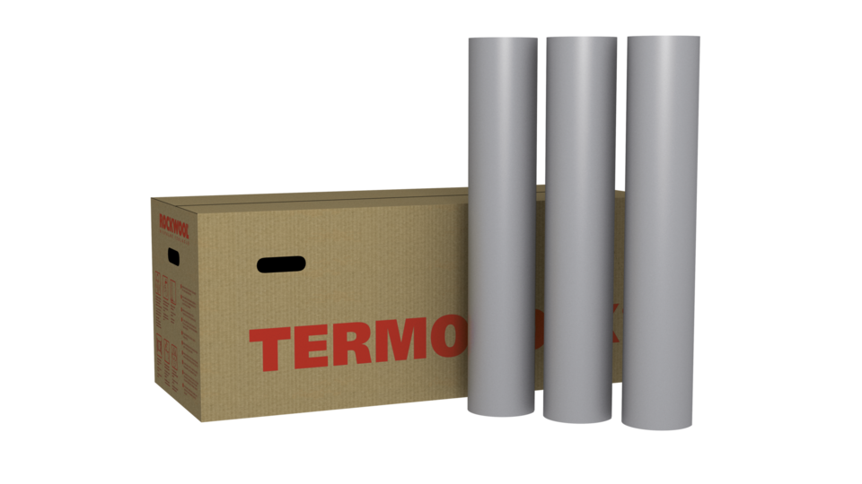 TERMOROCK, thermal insulation, pipelines, central heating, hot pipes, flexible pipe section with PVC foil