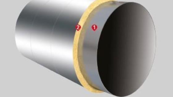 Systém PYROROCK pre kruhové potrubie