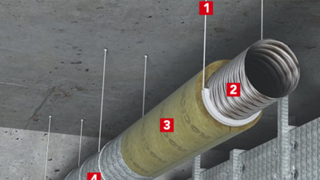 conlit mat, duct, air duct, ventilation duct, circular duct, circle duct, fire protection, fp