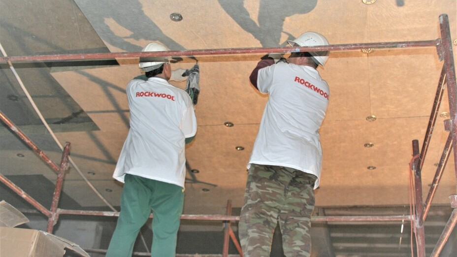 ceiling, ceilingrock, installation