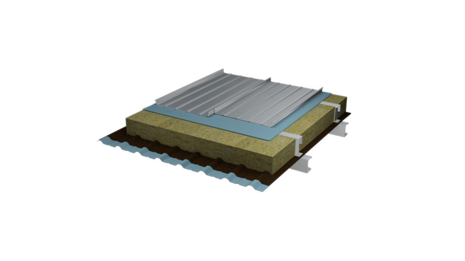 Product images, steel base roofing system