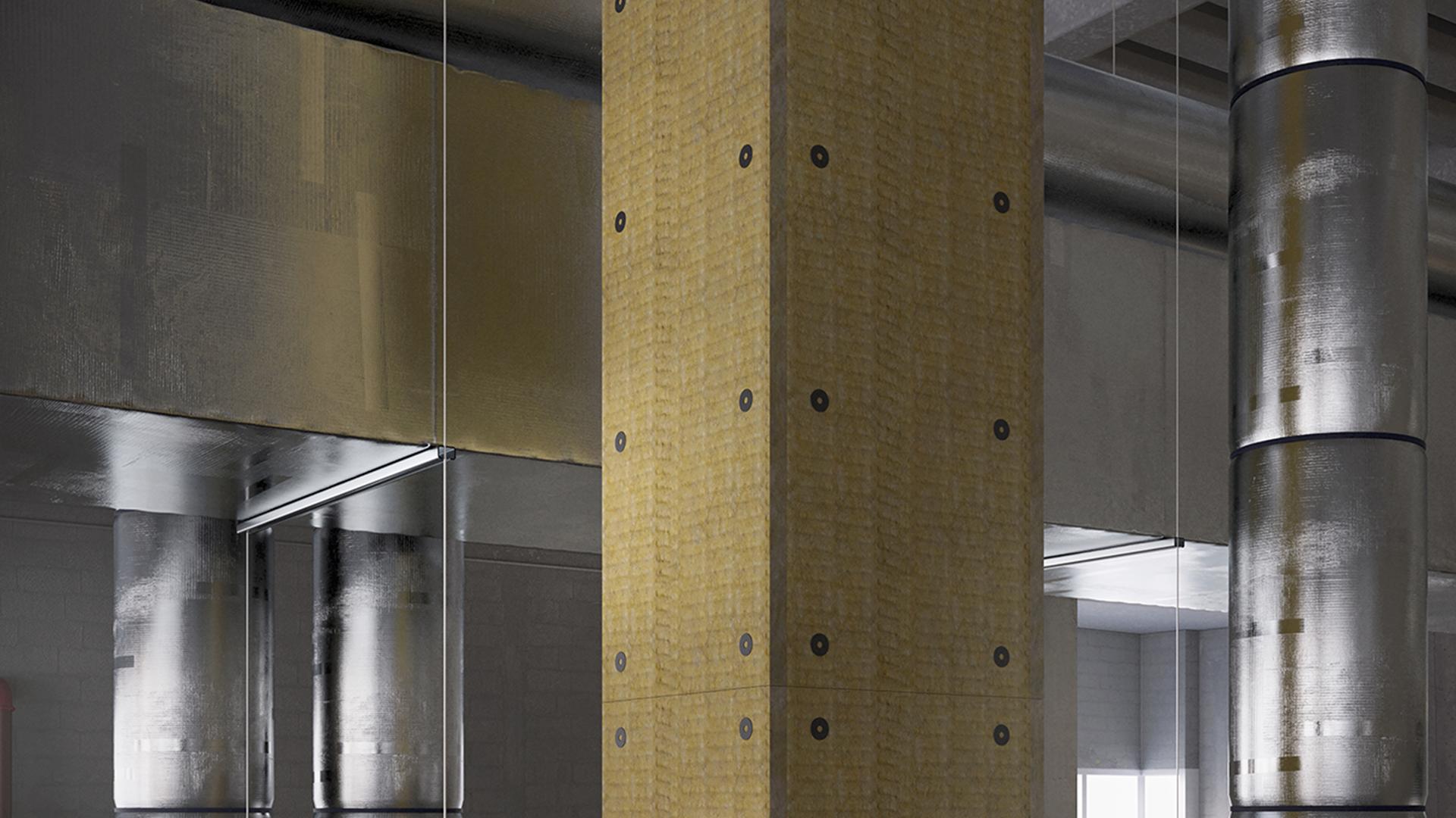 Conlit Steelprotect Board, productfoto, HVAC-FP, brandwerende toepassingen