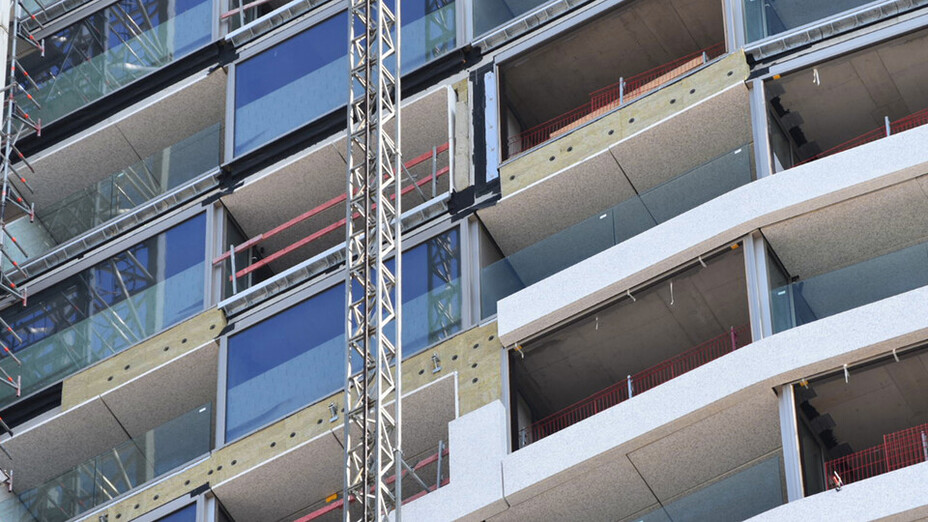 Rockfit Duo, ventilated facade, Antwerp Tower, high rise, fire safety