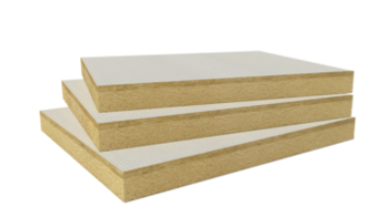 Rockfleece B Energy  White glass fleece coated slab. Flat roof insulation, FRI