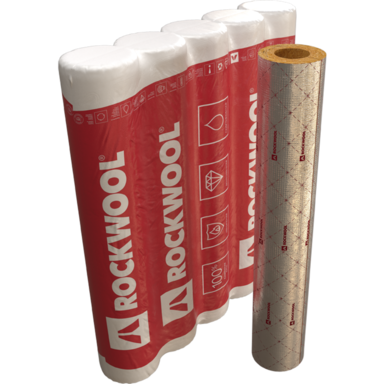 package, product, cylinders ROCKWOOL 100, rolls, HVAC