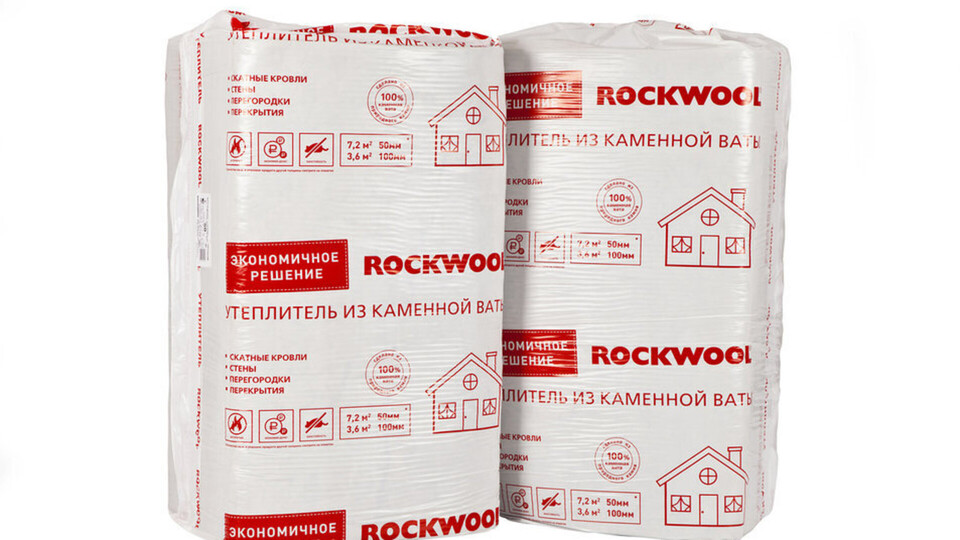 ROCKWOOL economy, package, product, slabs, Internal walls, Floors,  Pitched roof