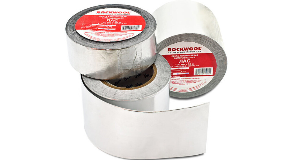 Self-adheisive aluminium tape, package, product,  components, Rockfire, ETICS, HVAC
