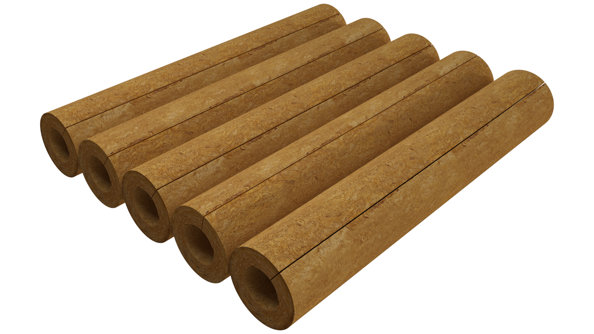 package, product, cylinders ROCKWOOL 150, rolls, HVAC