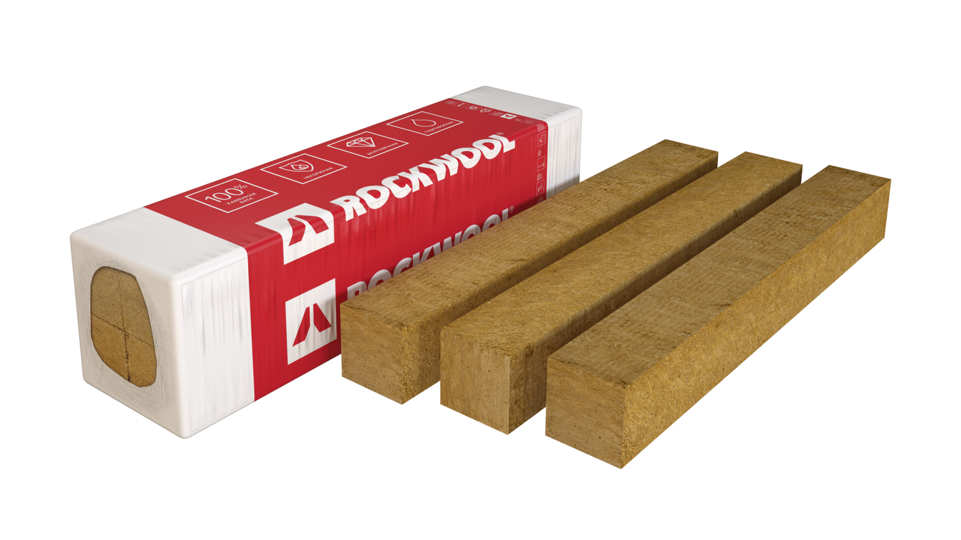package, product, facade batts lamella, mats, rockfacade