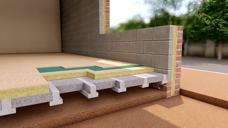 Ground Floor - Suspended Beam & Block - THERMAL ROCKFLOOR