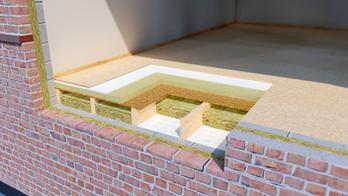 Separating Timber Floor - FLEXI ACOUSTIC ROCKFLOOR
