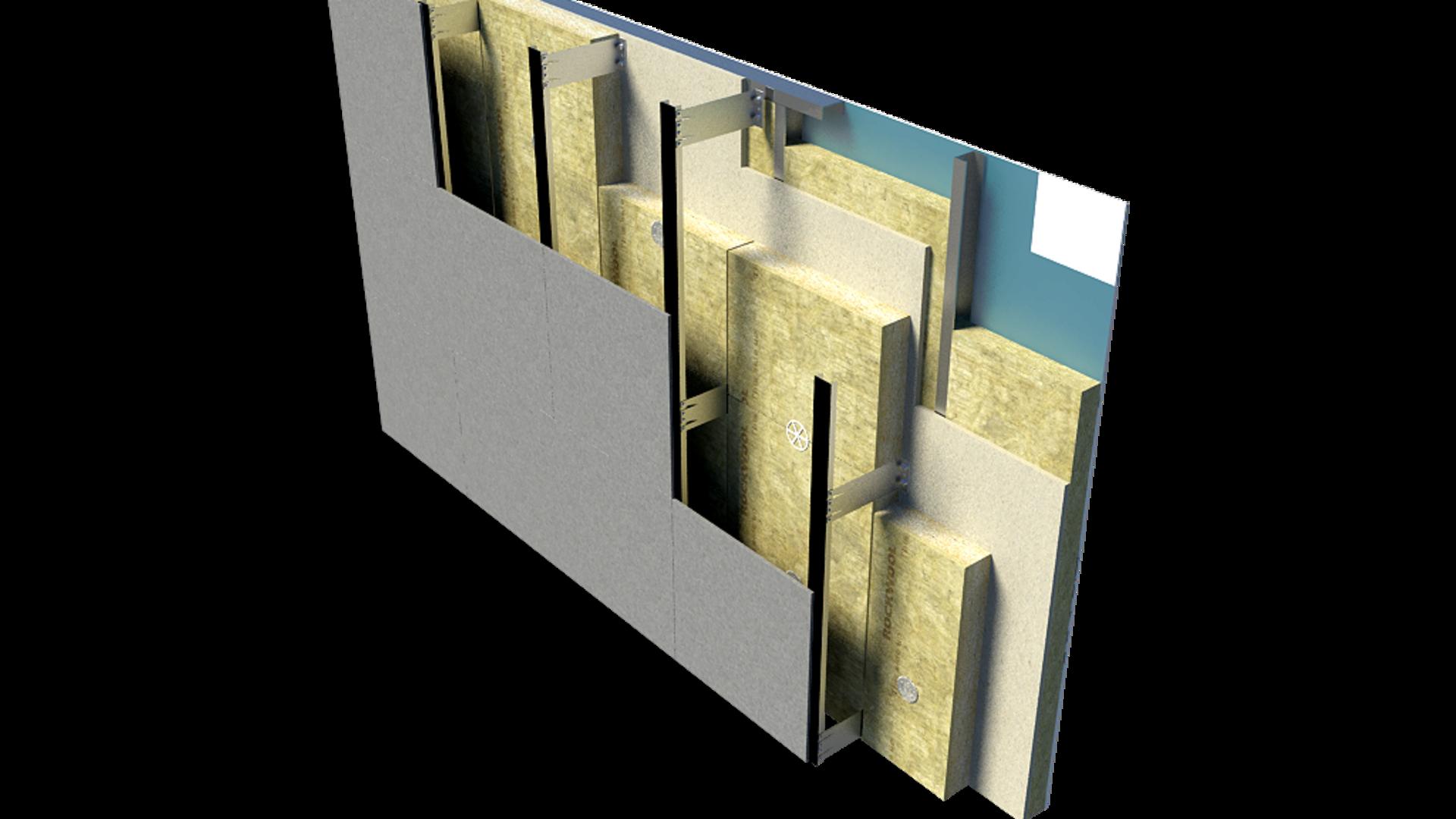 Rainscreen Cladding Roll Systems, Rainscreen Lightweight Steel Frame System, RAINSCREEN DUO SLAB