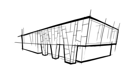 Building 1 sketch - large Building sketch