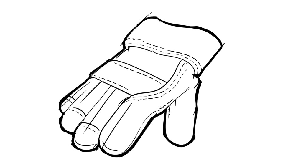Glove sketch - large