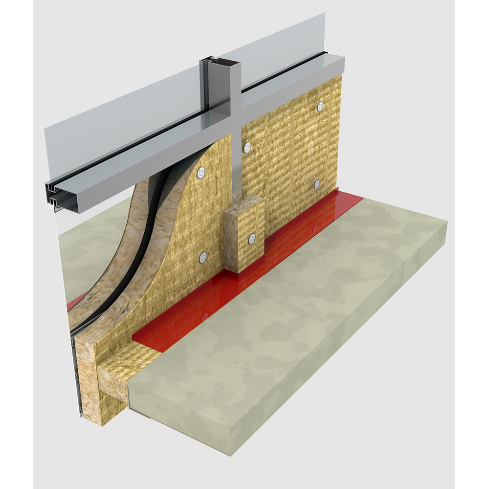 Exterior wall insulation rockwool for Mineral wool firestop