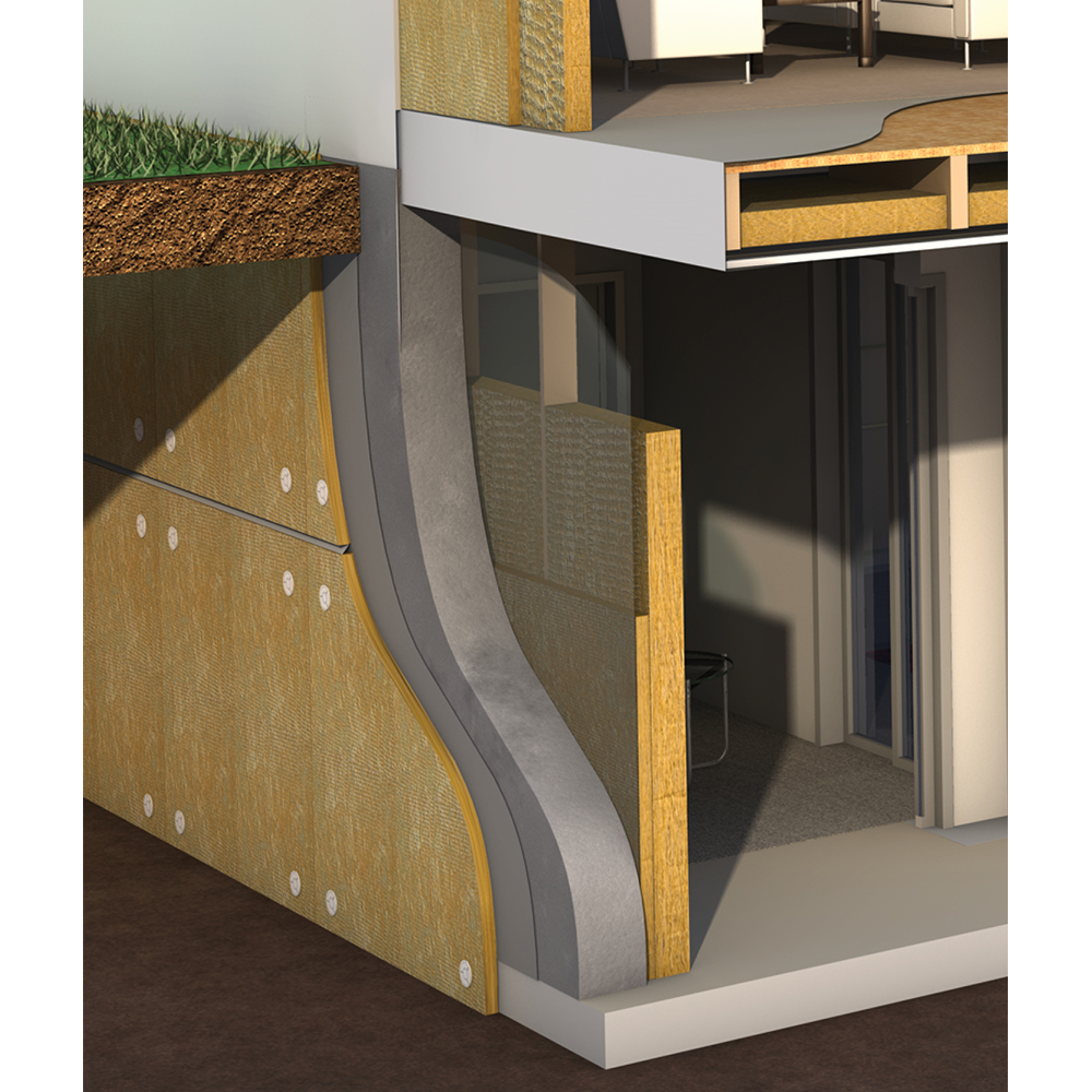 Exterior Insulated Below Grade Insulation