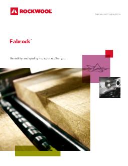 Product Documentation Rockwool