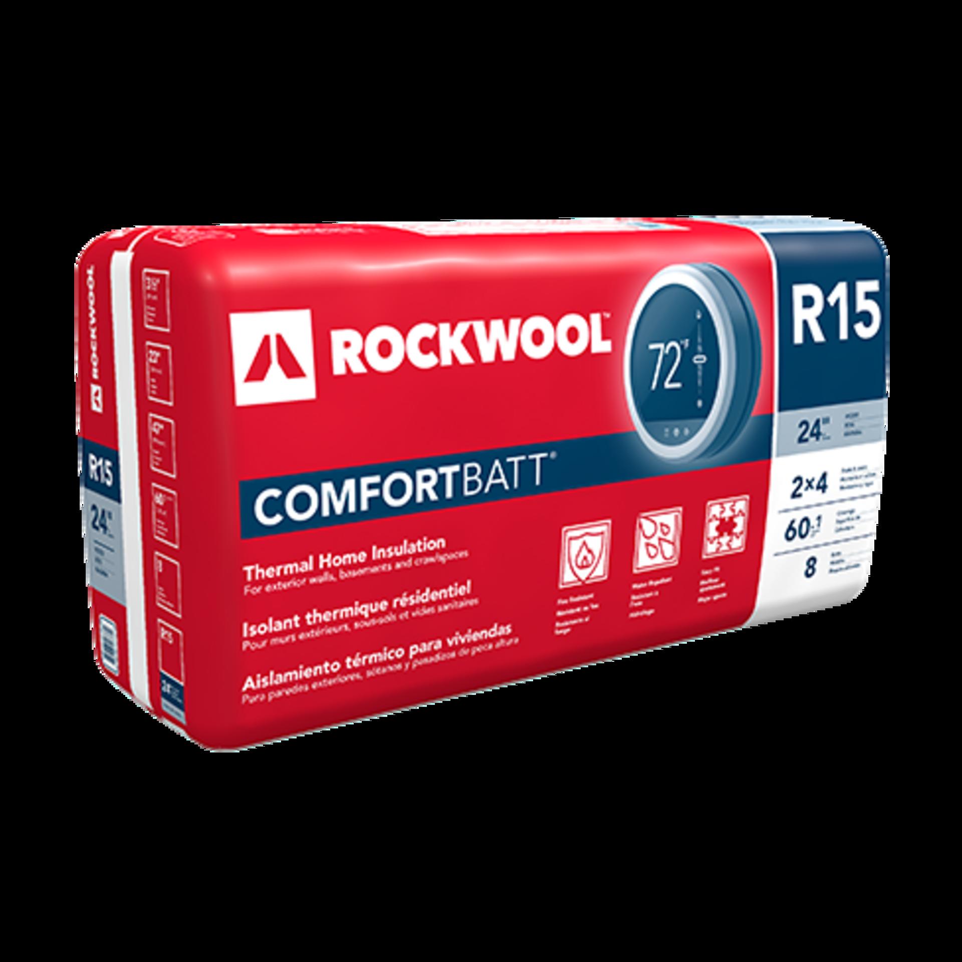 Rockwool Comfortbatt Semi Rigid Batt Insulation For Wood And Steel Framing